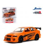 JADA JDM Tuners 1:64 Diecast Model Car - 2002 Mitsubishi Lancer Evolution VII Orange