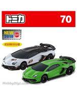 [2019新車貼] Tomica 合金車 No70 - Lamborghini Aventador SVJ 一套兩架