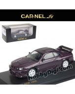 CarNel models 1:64 Diecast Model Car - Nissan GT-R Nismo 400R (R33) Purple