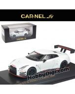 CarNel models 1:64 Diecast Model Car - Nissan GT-R Nismo Gt3 2017 Pearl White