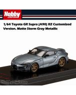 Hobby JAPAN 合金車 - 1/64 Toyota GR Supra (A90) RZ Customized Version. Matte Storm Gray Metallic