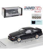 INNO64 1:64 合金模型車 - TOYOTA COROLLA Levin AE86 Black 連貼紙、車鈴