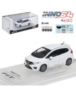 INNO64 1:64 Diecast Model Car - Honda Fit 3 RS White with separate decals sheet and extra rims