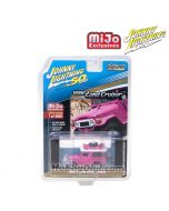 Johnny Lightning 1:64 MiJo Exclusives 限量版合金車 - 50th Anniversary - Toyota Land Cruiser Off Road 4x4 Hot Pink 1980