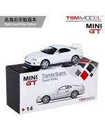 TSM 1:64 Mini GT 合金車 - Toyota Supra (JZA80) Super White (右手軚)