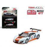 TSM 1:64 Mini GT X Mijo Exclusive 限定版合金車 - Acura NSX GT3 Gulf Racing Livery (1 of 4,800)