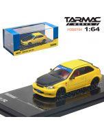 Tarmac Works HOBBY64 模型車 - Honda Civic Type R EK9 Yellow with Black Bonnet Tuned By SPOON