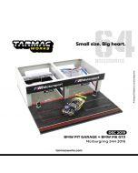 Tarmac Works HOBBY64 1:64 限定版合金模型車連場景套裝 - Diorama BMW Pitbox - with BMW M6 GT3 - Nürburgring 24h 2016