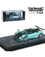 Tarmac Works GLOBAL64 香港限定版合金模型車 - Pagani Zonda RSJX (Zonda X) Baby Blue / Carbon Bonnet Italian Stripe