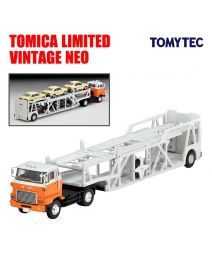 TOMYTEC Tomica Limited Vintage Neo 合金車 - LV-N89d Hino HE 366 Type Car Transporter White Orange