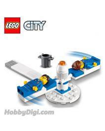 LEGO 散裝場景連人仔 City: G-force訓練機與被轉的太空人兩名