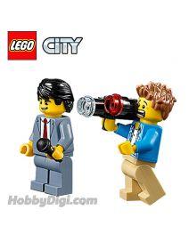 LEGO 散裝場景連人仔 City: 自信的記者與驚訝的攝影師