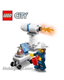 LEGO 散裝場景連人仔 City: 火箭測試場景與火箭工程師