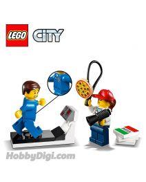 LEGO 散裝場景連人仔 City: 跑步機上的太空人與其薄餅教練