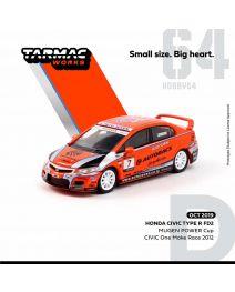 Tarmac Works HOBBY64 1:64 合金模型車 - Honda Civic Type R FD2 MUGEN POWER Cup CIVIC One Make Race 2012 大西 隆生