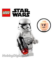 LEGO 散裝人仔 Star Wars: First Order Stormtrooper with Pointed Mouth Pattern and Stud blaster