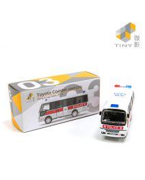 Tiny 微影 City 合金車 03 - Toyota Coaster 警車 (AM7224)