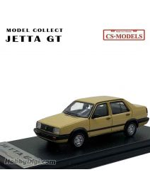 CS-MODELS MODEL COLLECT 1:64 合金模型車 - Volkswagen Jetta GT 1984-1992 Mud Yellow (Limited 1500 pcs)