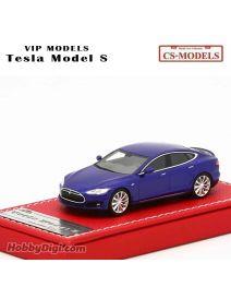 CS-MODELS VIP Models Resin 1:64 樹脂模型車 - Tesla Model S Blue