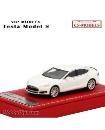 CS-MODELS VIP Models Resin 1:64 樹脂模型車 - Tesla Model S White
