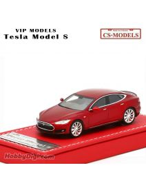 CS-MODELS VIP Models Resin 1:64 樹脂模型車 - Tesla Model S Red