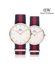 Daniel Wellington Classic Oxford 玫瑰金 尼龍帶情侶套裝手錶