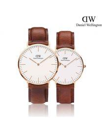 Daniel Wellington Classic St Mawes 玫瑰金 皮帶情侶套裝手錶