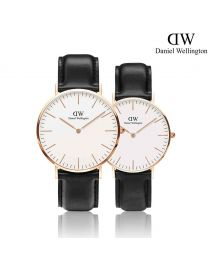 Daniel Wellington Classic Sheffield 玫瑰金 皮帶情侶套裝手錶