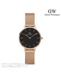 Daniel Wellington 28mm Classic Petite Melrose Black 玫瑰金 不鏽鋼帶女裝手錶 DW00100217