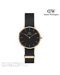 Daniel Wellington 28mm Classic Petite Cornwall Black 玫瑰金 尼龍帶女裝手錶 DW00100247