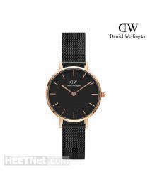 Daniel Wellington 28mm Classic Petite Ashfield Black 玫瑰金 不鏽鋼帶女裝手錶 DW00100245