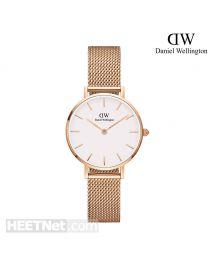 Daniel Wellington 28mm Classic Petite Melrose 玫瑰金 不鏽鋼帶女裝手錶 DW00100219