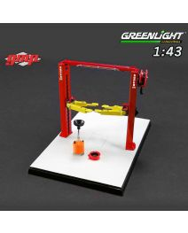 Greenlight 1:43 配件 - GMP Two Post Lift Red and Yellow