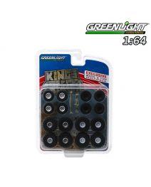 Greenlight 1:64 配件 - Kings of Crunch Wheel & Tire Pack - 16 Wheels, 16 Tires, 8 Axles (Hobby Exclusive)