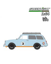 Greenlight 1:64 合金車 - 1965 Volkswagen Type 3 Squareback with Roof Rack - Gulf Oil (Club Vee-Dub S9)