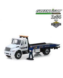 Greenlight 1:64 合金車 - 2013 International Durastar Flatbed Goodyear Roadside Service with Serviceman Figure (H.D. Trucks Series 16)