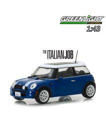 Greenlight 1:43 合金車 - The Italian Job (2003) - 2003 Mini Cooper - Blue with White Stripes