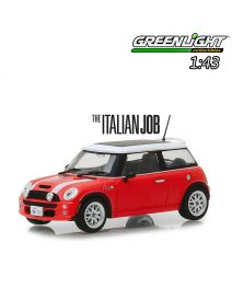 Greenlight 1:43 合金車 - The Italian Job (2003) - 2003 Mini Cooper S - Red with White Stripes