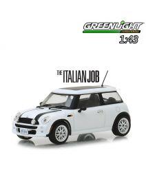 Greenlight 1:43 合金車 - The Italian Job (2003) - 2003 Mini Cooper - White with Black Stripes