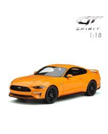 GT SPIRIT 1:18 樹脂模型車 - 2019 Ford Mustang Orange Fury