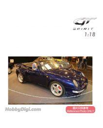 GT SPIRIT 1:18 樹脂模型車 - PORSCHE 911 (993) TURBO CABRIOLET (Iris Blue)