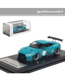 Ignition Model 1:64 限量版模型車 - PANDEM Nissan R35 GT-R Turquoise Blue (Tarmac Works Exclusive Color)