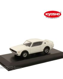KYOSHO 1:64 合金模型車 - Nissan SKYLINE 2000GT-R (KPGC110) 白色 帶底座展示罩