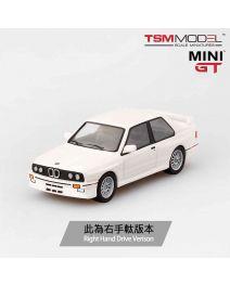 TSM 1:64 Mini GT 合金車 - BMW M3 (E30) Alpine White (右手軚)