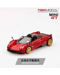 TSM 1:64 Mini GT 合金車 - Pagani Huayra Roadster Rosso Monza (左手軚)
