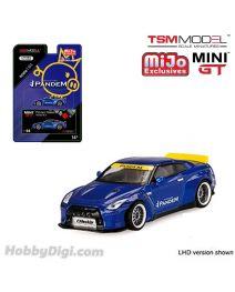 TSM 1:64 Mini GT X Mijo Exclusive 合金車 - Pandem Nissan GT-R R35 with Duck Tail (Velocity Blue)