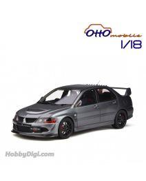 OttO Mobile 1:18 樹脂模型車 - Mitsubishi Lancer Evo 8 MR FQ-400 Gun Metal Grey