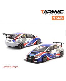 Tarmac Works 1:43 合金模型車 - Honda Civic Type R TCR FK2 TCR Asia 2017 Tin Sritrai