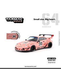 Tarmac Works HOBBY64 1:64 合金模型車 - RWB 993 Sopranos (Container Included)