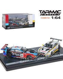 Tarmac Works HOBBY64 香港限定版合金模型車套裝 - BMW M6 GT3 - 24 Hours of Spa 2018 一套兩架